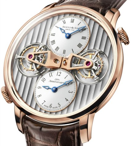Arnorld and son : Double Tourbillon Escapement Dual Time