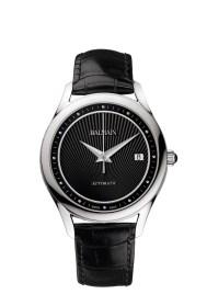 Balmain Maestria Round Automatic pair watches modèle pour homme avec bracelet en cuir