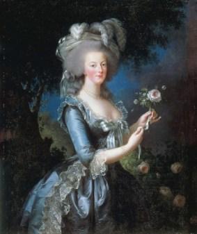 Marie-Antoinette à la rose, portrait par Elisabeth Vigéee-Le Brun
