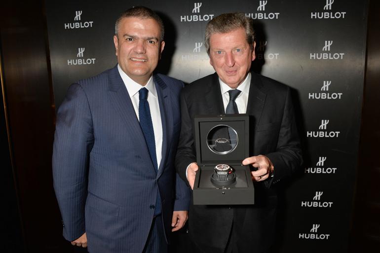 Roy Hodgson et Ricado Guadaloupe présentent la King Power 66 Hodgson d'Hublot