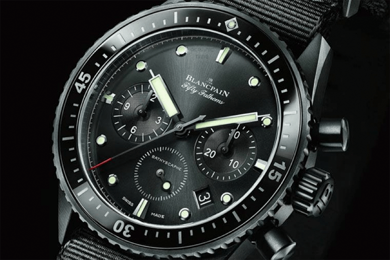Blancpain fifty-fathoms Bathyscaphe flyback