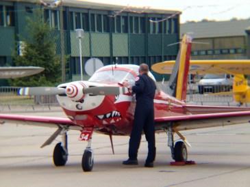 Un avion des Diables Rouges