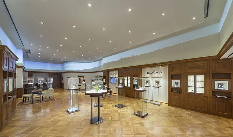 Blancpain Boutique Intérieur vue large