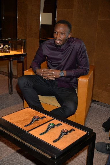 Usain Bolt Boutique Hublot Londres New Bond Street