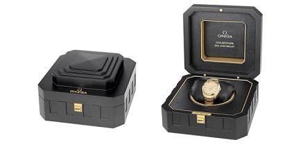 Omega Seamaster Aqua Terra Goldfinger 50th Anniversary box