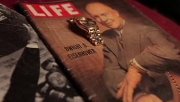 président Eisenhower avec Rolex Magazine Life