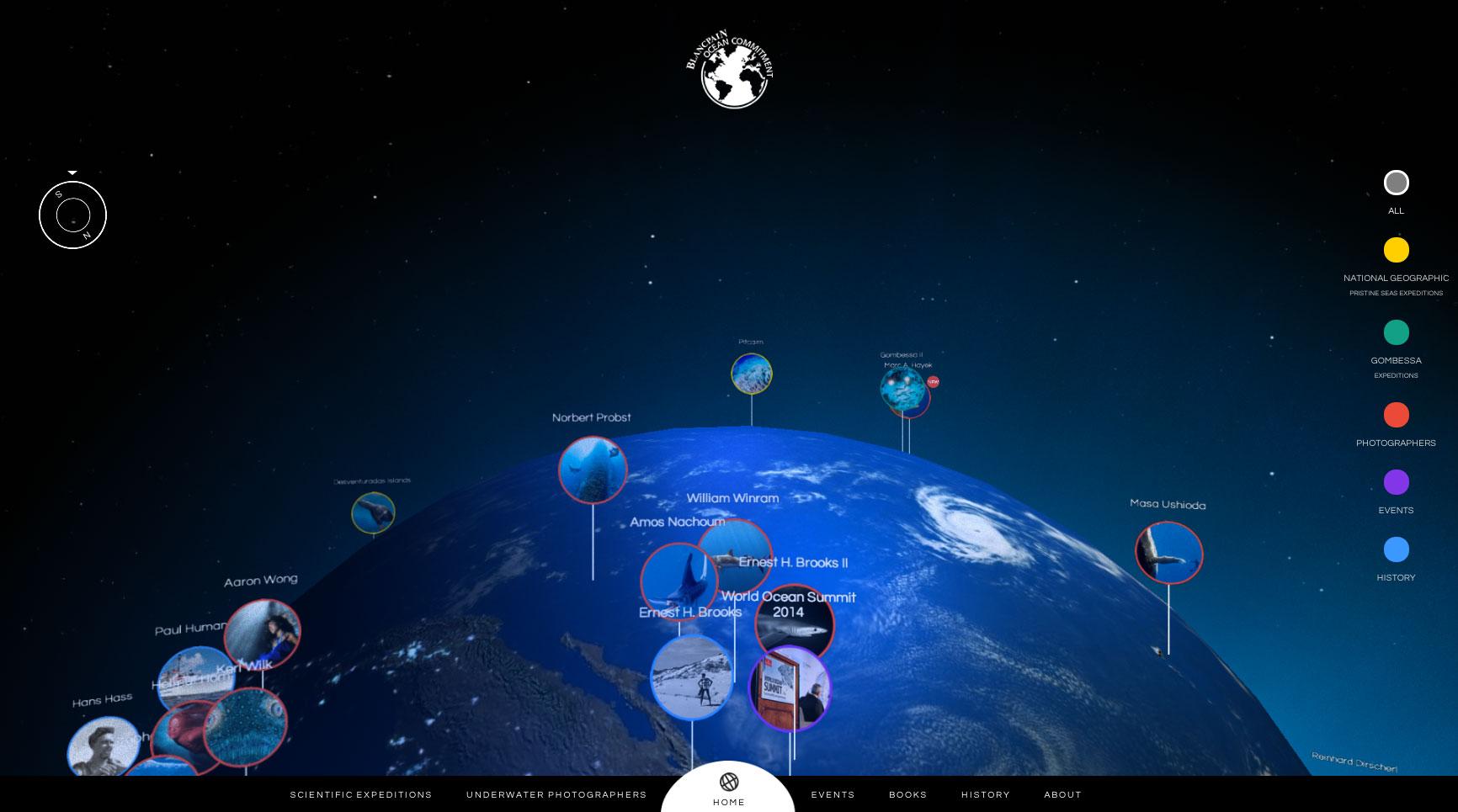 Capture écran site blancpain ocean commitment