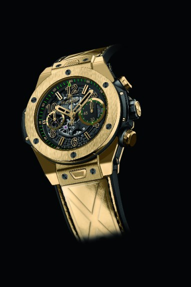 Hublot Big Bang UNICO Usain Bolt yellow gold fuite