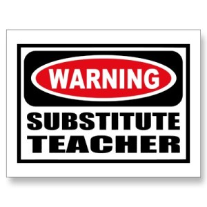 Substitute Warning
