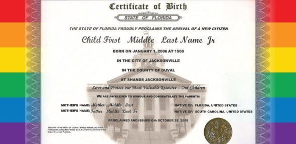Victory in Virginia lesbian couple birth certificate case - birth certificate