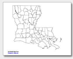 Printable Louisiana Maps State Outline Parish Cities
