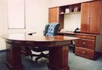 Circular Cherry Executive Office Desk