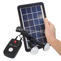 Compact Portable Solar Lighting kit - 12V
