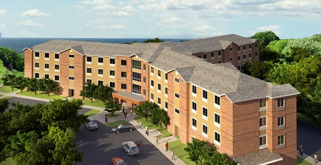 New student residence halls underway at campus' north end signal University's forward push