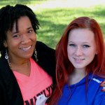 Social Sciences student JaNay Burrows, left, with mentee Kamryn Satterwhite.