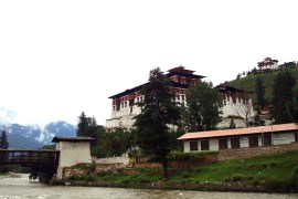 Paro Rinpung Dzong with Ta Dzong in the background