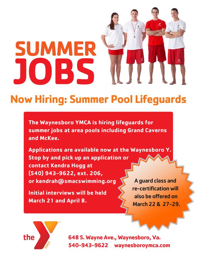 Now Hiring Summer Lifeguards - Waynesboro Family YMCA  Waynesboro