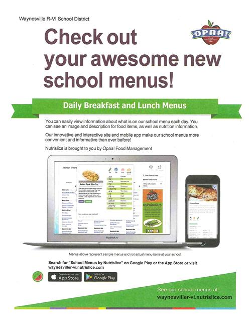 Food Services / Menus