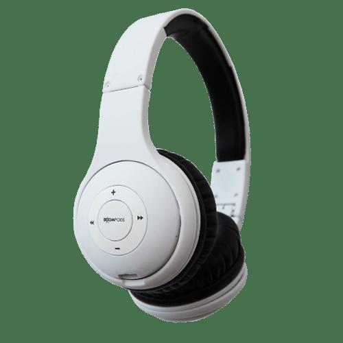 boompods wireless headpods headset-white