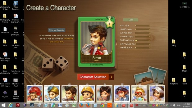 just roll it online board game character selection