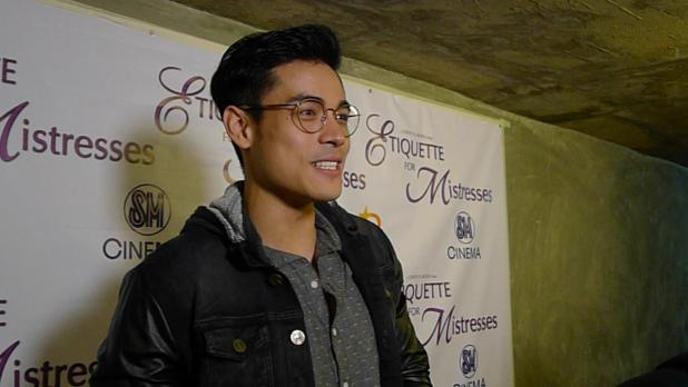 Xian Lim's Congratulates Kim Chiu on her Role at Etiquette for Mistresses at the Premiere Night