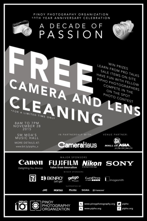 Pinoy Photography PIPHO Free Camera Lens Cleaning