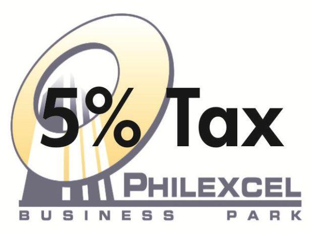 Less Tax for PHILEXCEL Business Park clients