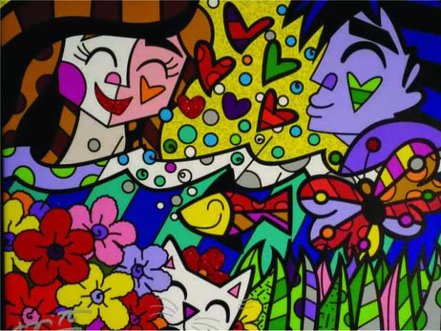 """One of Romero Britto's paintings called """"Summer"""", a very timely artwork for this season!"""