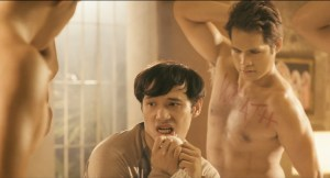 Father Nick (Cipriano) resists the temptation of hunky macho dancing demons