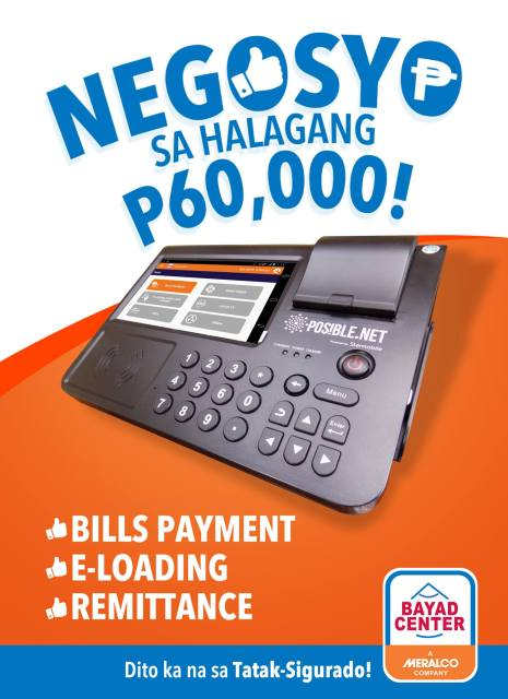 bayad center retail machine 60000 business