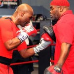Hopkins and Naazim work the mitts