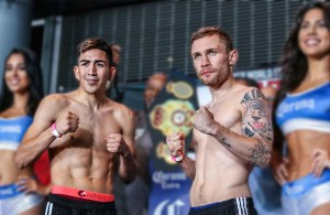 Leo Santa Cruz vs Carl Frampton weighin