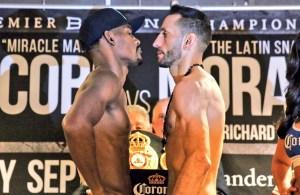 Jacobs y Mora en peso y listos para combatir