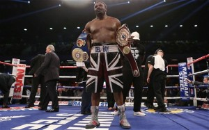 Standing proud: Dereck Chisora after his points victory over Kevin Johnson