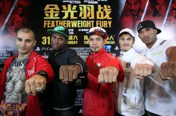 Darchinyan, Walters, Donaire. Featherweight Fury. Macao, China. Photos by Chris Farina/Top Rank