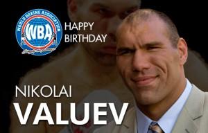 Nikolai Valuev's birthday