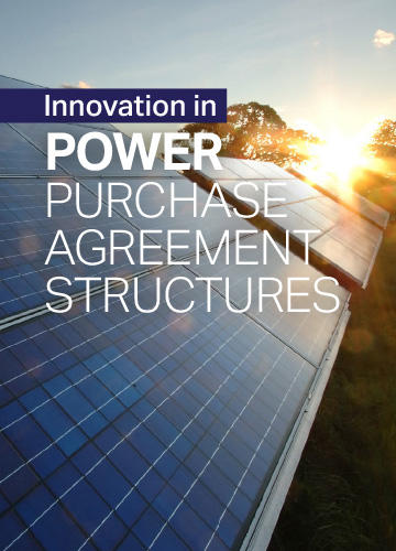 Innovation in Power Purchase Agreement Structures