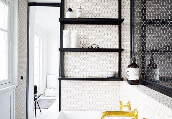 Small Hexagon Tile In Bathroom 2
