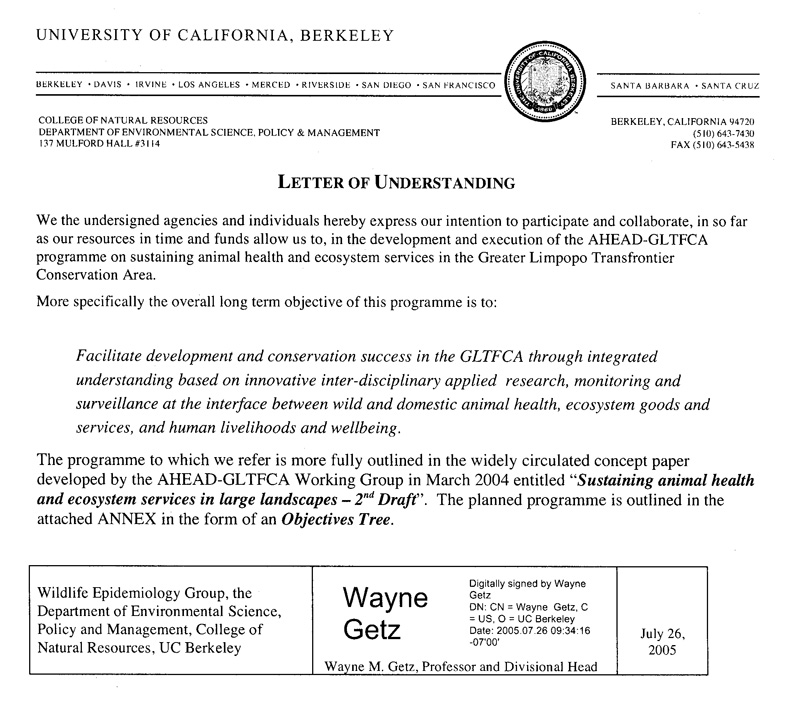 AHEAD GLTFCA - Letters of Understanding - acceptance letters pdf