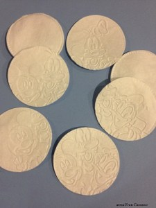 13 B FC WDW Radio Mickeys Pals Embossed Spa Cotton Rounds
