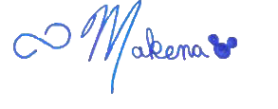 Makena's signature for blog