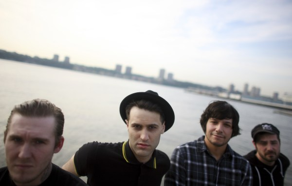 From left: Brian Fallon, Alex Levine, Ben Horowitz and Alex Rosamilia of the band Gaslight Anthem in New York.