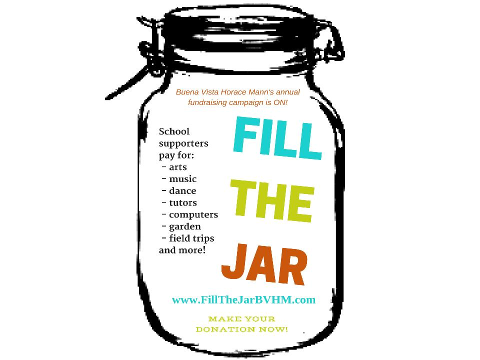 Donate to Buena Vista Horace Mann's Fill The Jar Fundraising Campaign