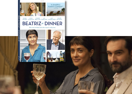 Beatriz at dinner starring salma hayek and john lithgow available oscar nominees salma hayek frida how to be a latin lover and john lithgow terms of endearment the crown lead an all star cast in beatriz at dinner ccuart Images