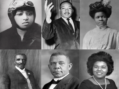 Black History Month montage of celebrated people