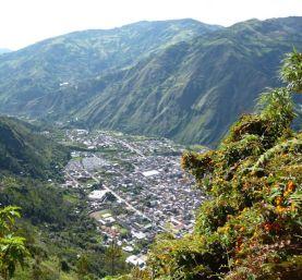 Baños uitzicht ecuador