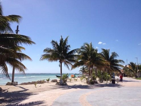 Mahahual malecon beach