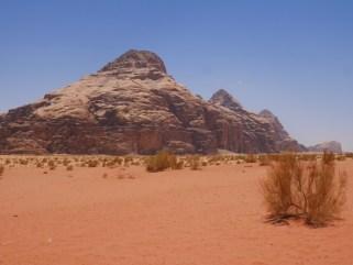 Omgeving wadi rum jordanie