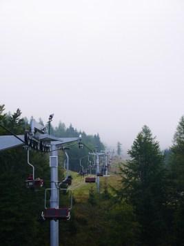 Velika Planina onderweg naar boven