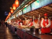 verkopers streetfood beijing